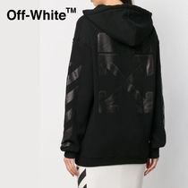Off-White プリント パーカー / DIAG CARRYOVER LONG HOODIE