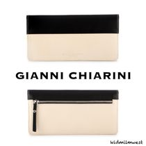 WALLET BLACK BEIGE LEATHER☆お洒落なバイカラーデザイン◎