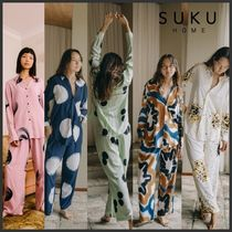【SUKU HOME】 AUS発 パジャマセット 長袖 竹レーヨン 手染め