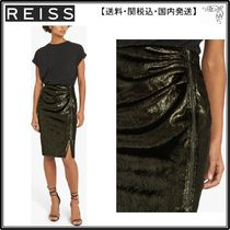 【海外限定】REISS スカート☆Leena Shimmering Zip Pencil Skir