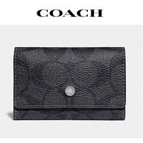 2020NEW♪ coach ◆ five ring key case in signature canvas
