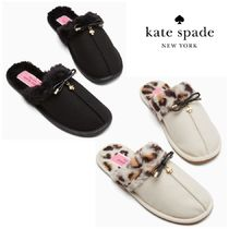 【kate spade】あったか ふわもこスリッパ/slipper lacey