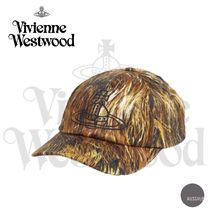 ■VivienneWestwood■Hair-print cotton-blend baseball cap■黒