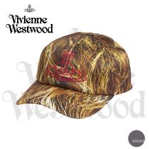 ■VivienneWestwood■Hair-print cotton-blend baseball cap■赤