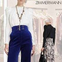 ZIMMERMANN ★Silk Drape Shoulder Blouse★ シルク ブラウス