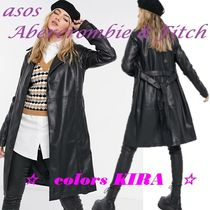 ASOS★Abercrombie & Fitch★フェイクレザートレンチコート♪