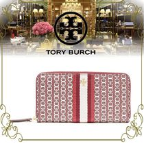【TORY BURCH 限定SALE!!】 プリントコーティングコットン 財布