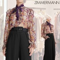 ZIMMERMANN ★LADYBEETLE RUFFLED LUREX TOP★ シフォンブラウス