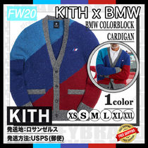 20FW/AW KITH FOR BMW Colorblock Cardigan [追跡付き]