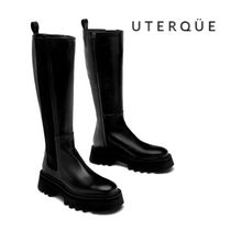 【Uterque】FLAT LEATHER TRACK BOOT