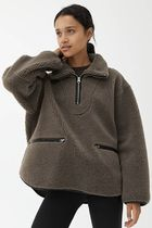 """""""ARKET"""" ☆Leather Trimmed Pile Anorak"""