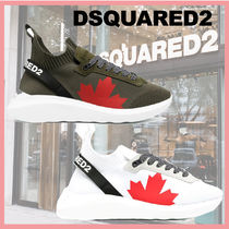 FW20最新!送料関税込☆DSQUARED2 SNEAKERS WITH MAPLE LEAF 2色