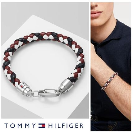 TOMMY HILFIGER☆トミーカラー レザー 編込み ブレスレット♪