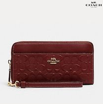 【COACH】ACCORDION ZIP WALLET IN SIGNATURE LEATHER C2035