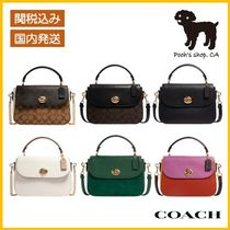 【COACH】Marlie Top Handle Satchel In Signature◆国内発送◆