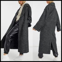 ASOS DESIGN oversized coat in prince of wales check