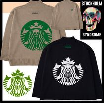 STOCKHOLM SYNDROME(ストックホルムシンドローム) ニット・セーター ☆STOCKHOLM SYNDROME☆SKULL BOUCLE EMB HIGH-NECK SWEATE.R☆