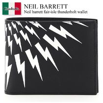 Neil barrett fair-isle thunderbolt wallet
