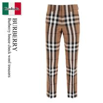 Burberry house check wool trousers