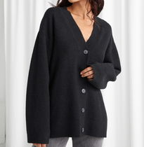"""""""& Other Stories"""" Oversized Button Up Cardigan Black"""