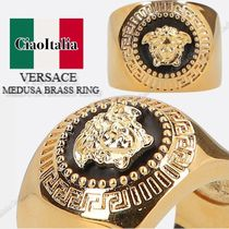 VERSACE MEDUSA BRASS RING