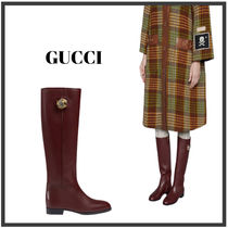 ★GUCCI★ Leather boot with tiger head