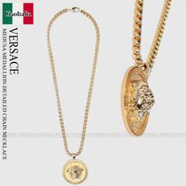 VERSACE MEDUSA MEDALLION-DETAILED CHAIN NECKLACE