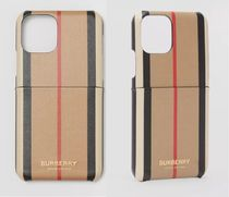 ★BURBERRY★Icon Stripe E-canvas iPhone ケース (11Pro)