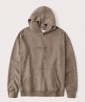 Abercrombie & Fitch Lightweight Embossed Logo Hoodie
