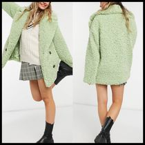 ASOS DESIGN double breasted teddy borg coat
