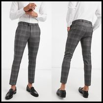 River Island smart trousers in grey check
