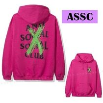 SALE★Anti Social Social Club CANCELLED REMIX HOODIE ピンク