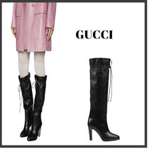 ★GUCCI★ Women's knee-high boot with Double G