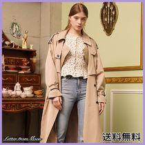 [LETTERFROMMOON] Romantic Chic Over-fit Trench Coat C_Beige