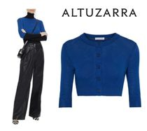 ALTUZARRA☆Anita cropped silk and cotton-blend cardigan