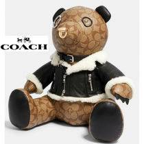 Coach(コーチ) ホビー・カルチャーその他 希少品 Coach限定 Bear In Signature Canvas With Moto Jacket