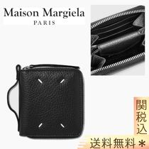 【MAISON MARGIELA】 GRAIN LEATHER ZIP WALLET