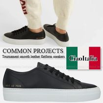 COMMON PROJECTS Tournament smooth leather flatform sneakers