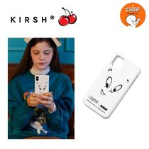 【KIRSH】xキャスパー CASPER FACE IPHONE CASE white (XS/11)