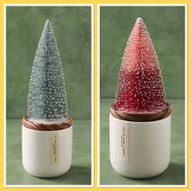 Anthropologie Frosted Bottle Brush ツリーキャンドル国内発送
