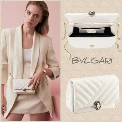 BVLGARI★ SERPENTI CABOCHON CROSSBODY ミニバッグ ホワイト