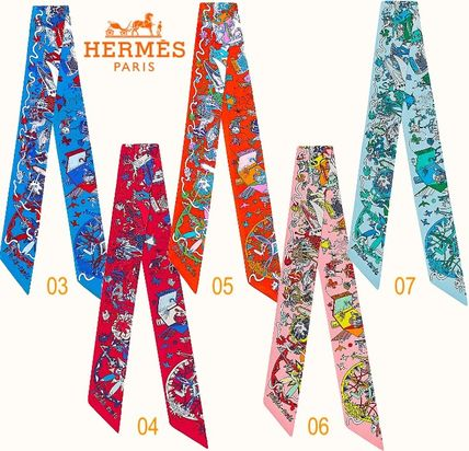 HERMES Twilly ツイリー La Folle Parade 直営店