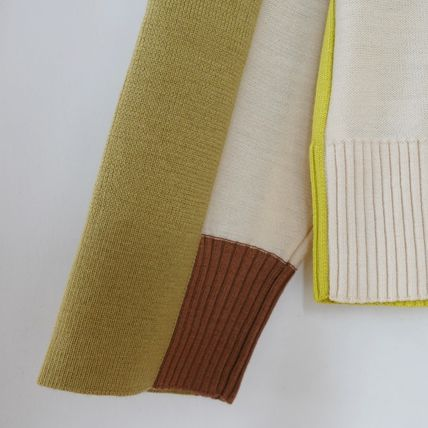 "COS カーディガン ""COS"" COLOUR-BLOCK WOOL CARDIGAN YELLOW(5)"