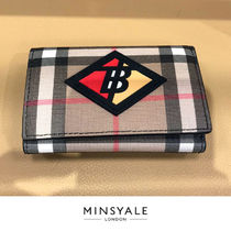 【BURBERRY OUTLET 新品】BURBERRY WALLET-BLACK 折りたたみ財布
