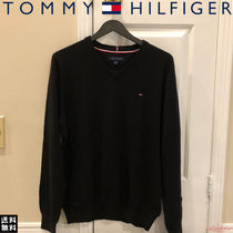☆定番人気★ Tommy Hilfiger V-neck Smallロゴ セーター Black