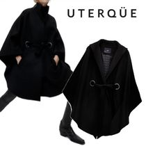 【Uterque】WOOL CAPE PADDED LINING