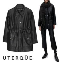 【Uterque】LEATHER PARKA WITH BRACES