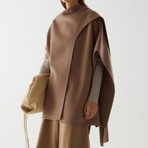 """COS"" WOOL MIX HYBRID CAPE BROWN"