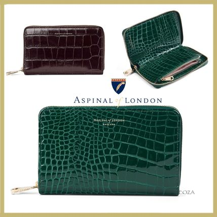 Aspinal of London☆Midi Continental☆ジップ!ミディアム財布