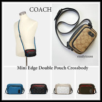 定番 COACH★メンズ★mini edge double pouch crossbody